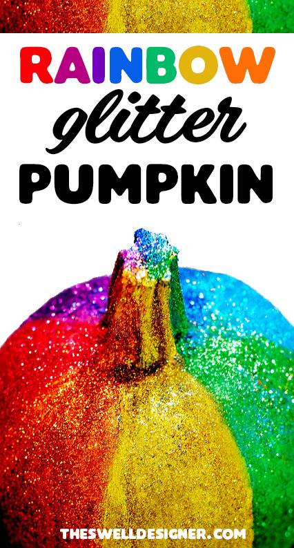 rainbow-glitter-pumpkin