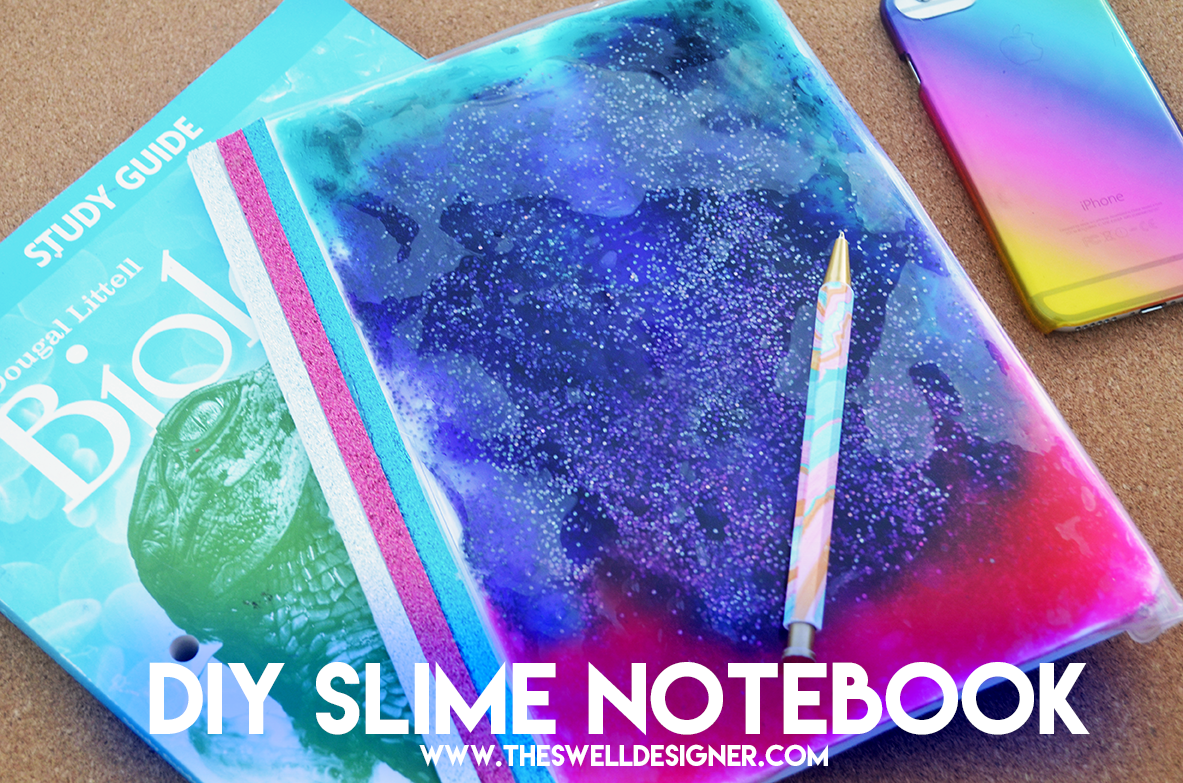 diy your own slime notebook