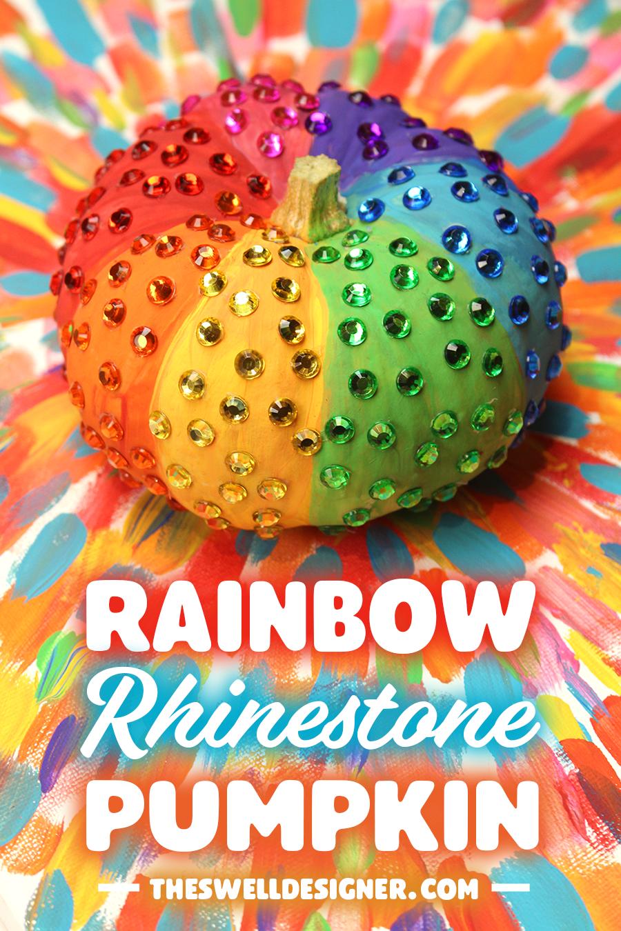 rainbow-rhinestone-pumpkin